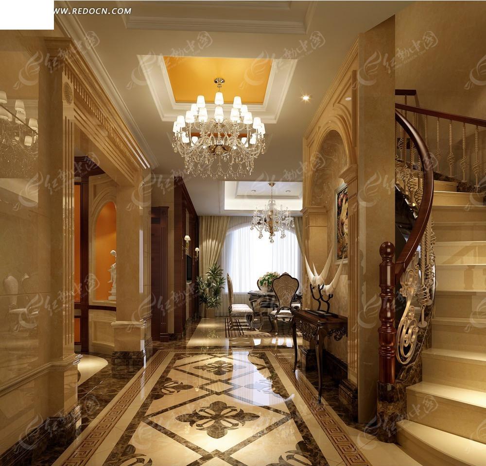 室内设计效果图--欧式古典奢华风格设计