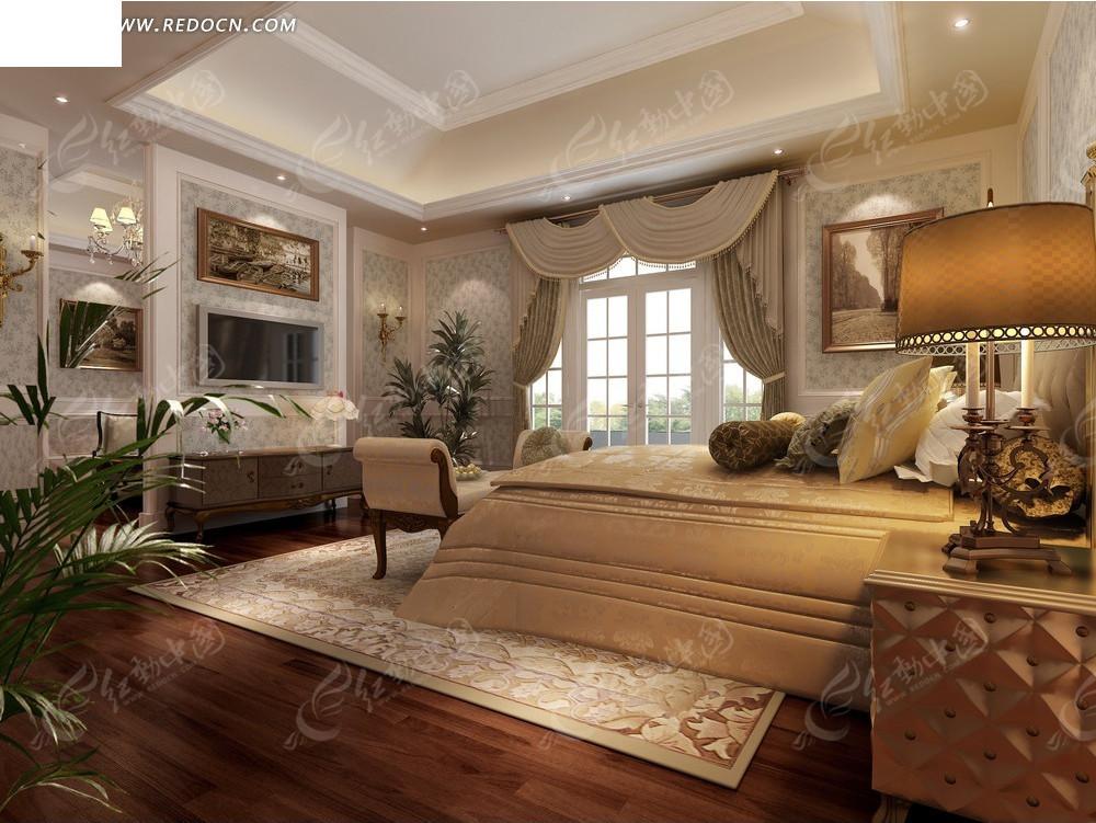 欧式典雅卧室效果图图片