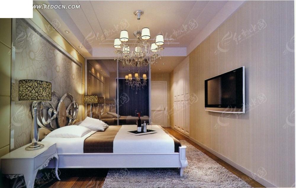 欧式典雅卧室效果图_室内设计
