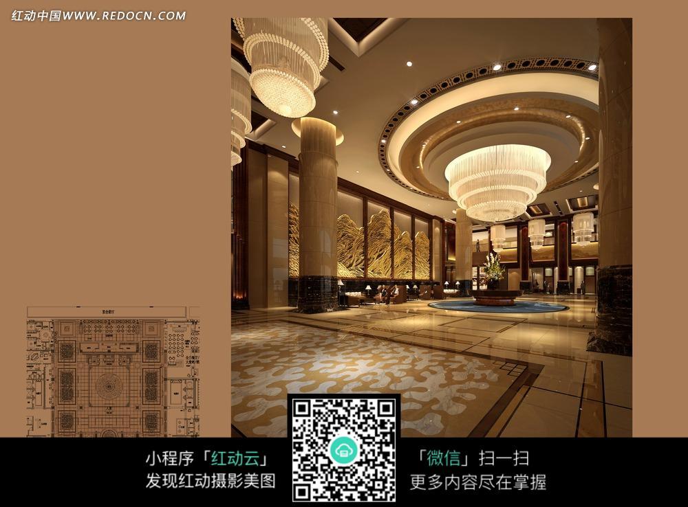 华丽豪华的大厅设计图片