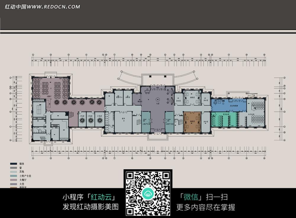 大型酒店布局规划图