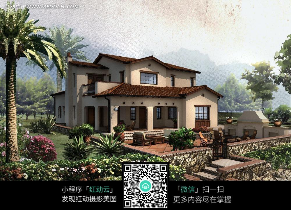 豪华别墅外观设计图片