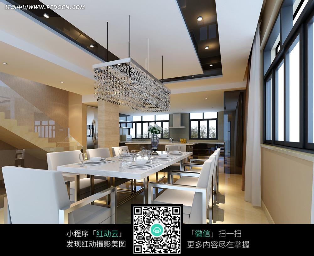 免費素材 圖片素材 環境居住 室內設計 歐式華麗別墅餐廳效果圖  請您