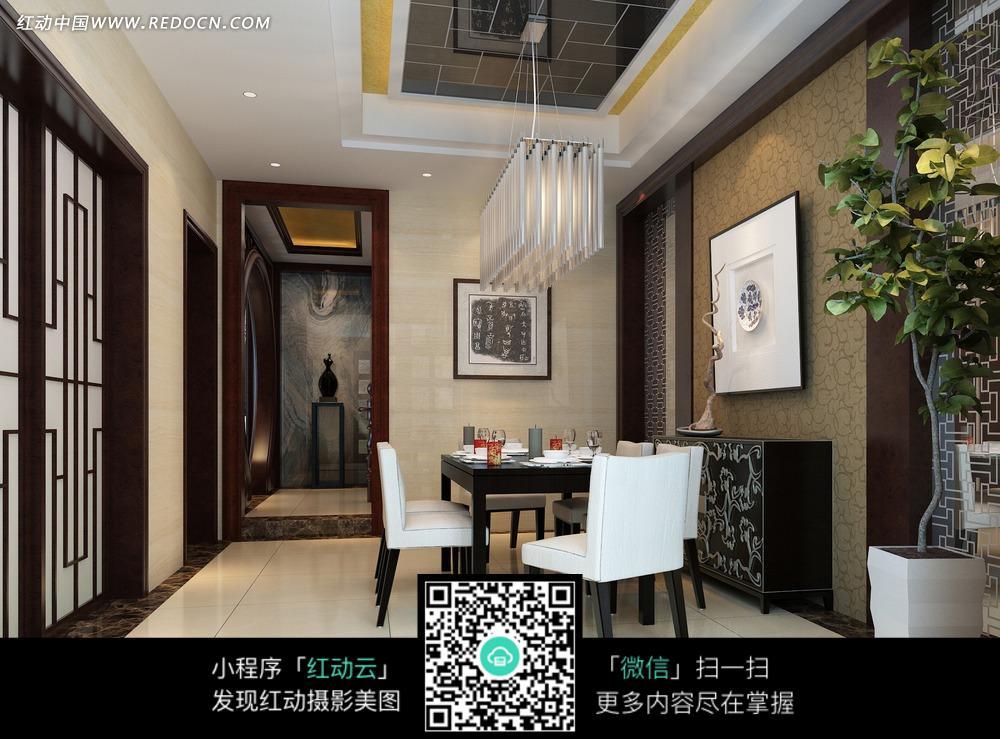 免费素材 图片素材 环境居住 室内设计 现代时尚餐厅效果图  请您分享