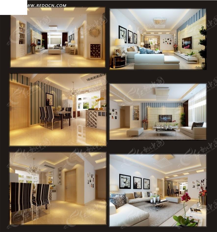 装修3d模型下载_3d室内装修设计软件_3d; 全套温馨家居室内装修效果图