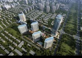 城市大型社区鸟瞰图