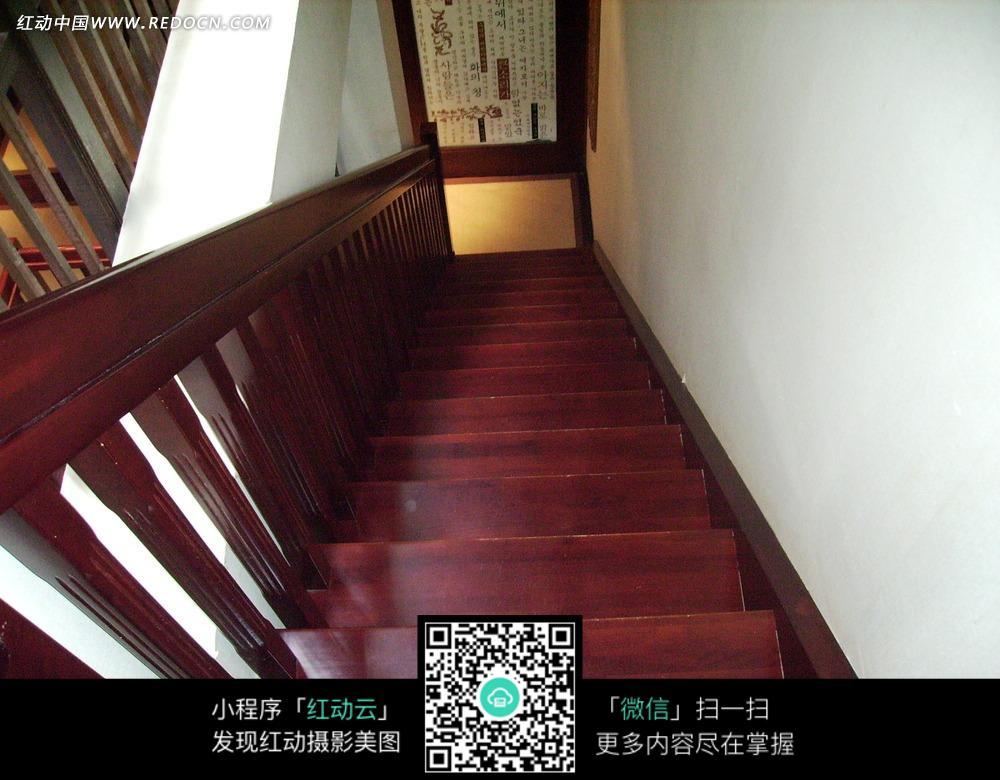 木质楼梯俯视图图片