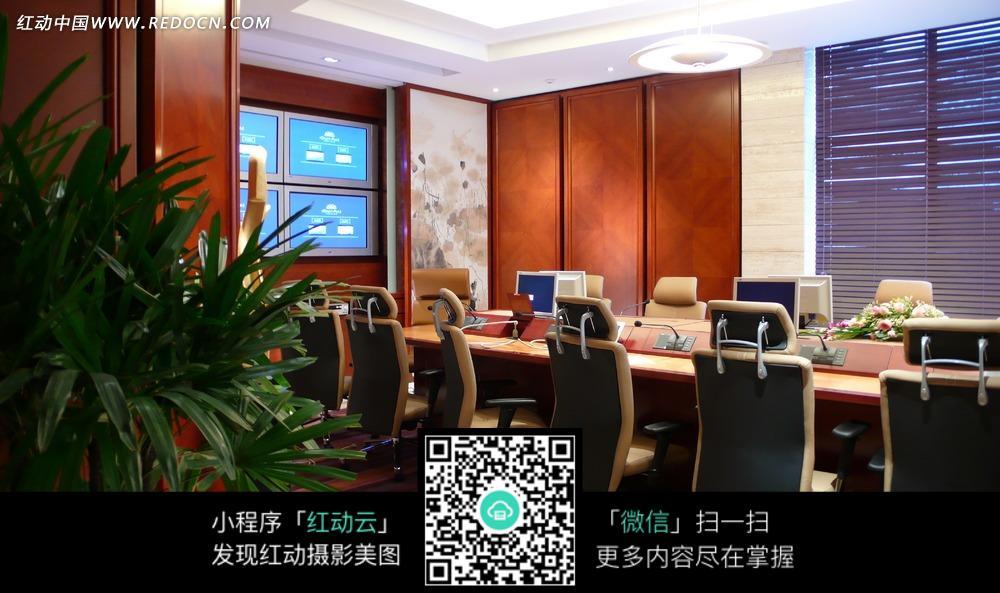 手绘会议室效果图_室内设计