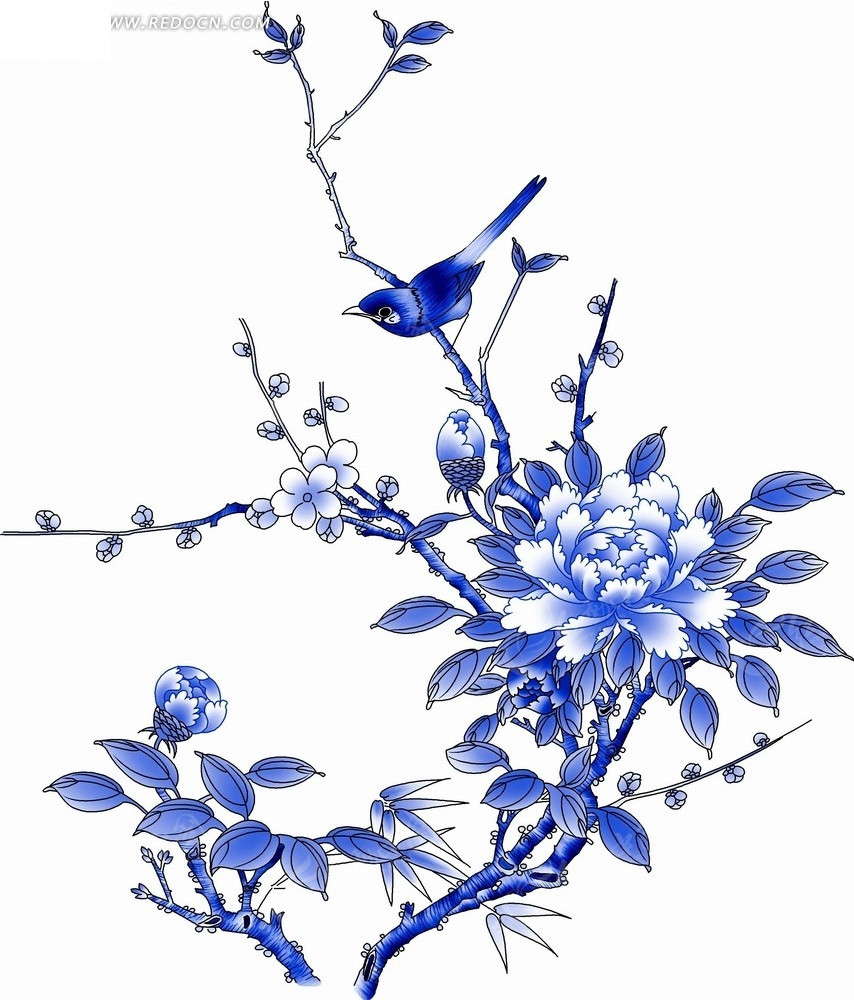 梅花树枝简笔画,梅花树枝笔刷