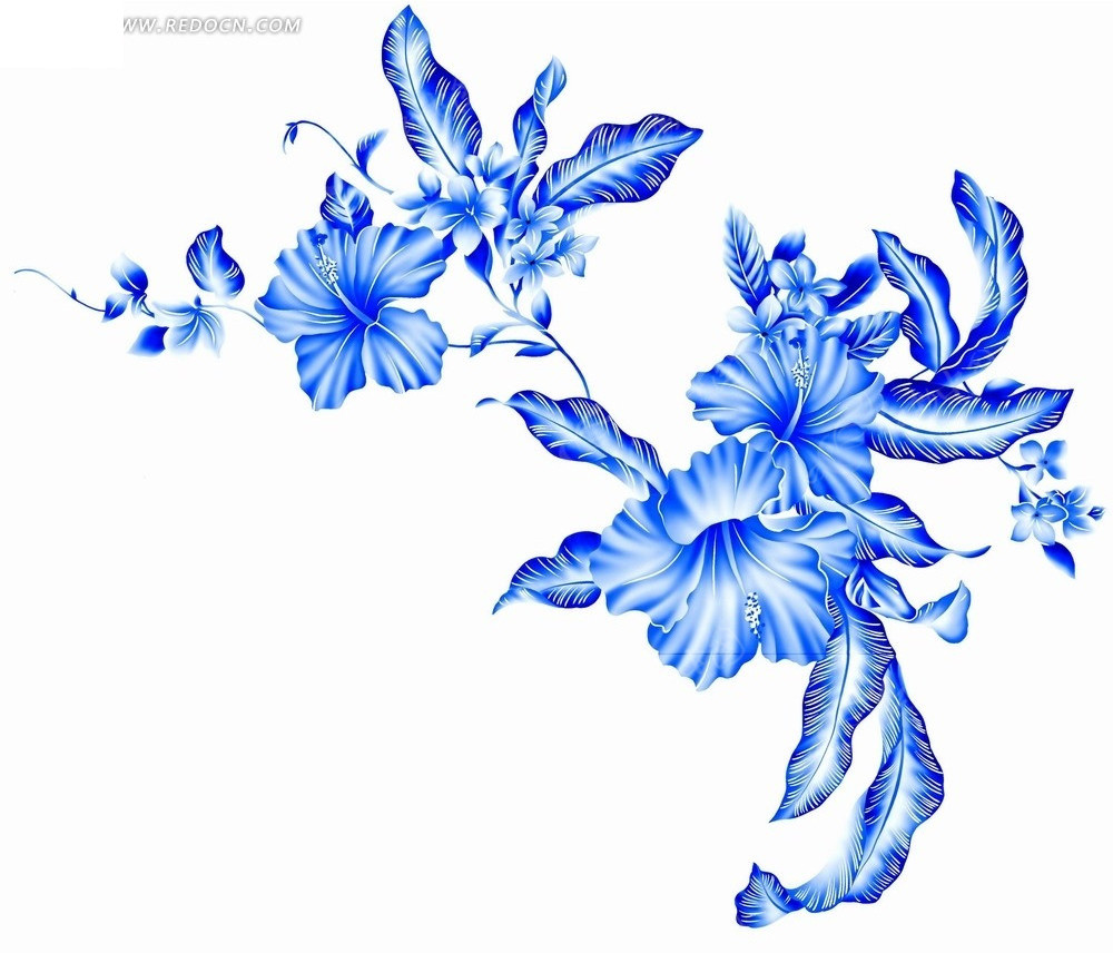 儿童简易画图片大全白蓝色