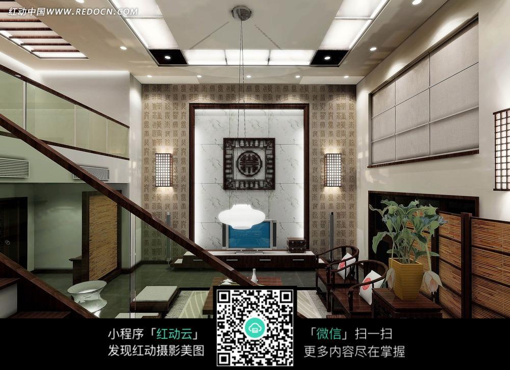 中式古典 原木家具      沙发 电视机 电视柜 茶几 台灯 时尚家具图片