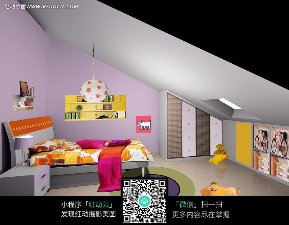 斜坡儿童卧室的儿童房图片