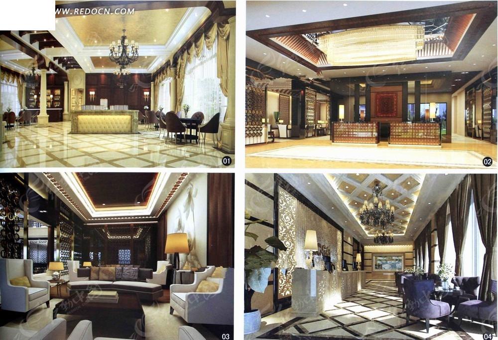 奢华售楼中心室内设计3d效果图图片高清图片