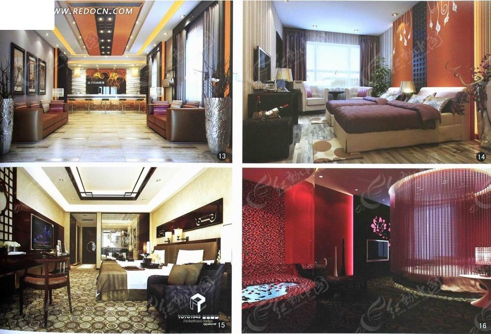 星级酒店室内设计3d渲染效果图图片高清图片