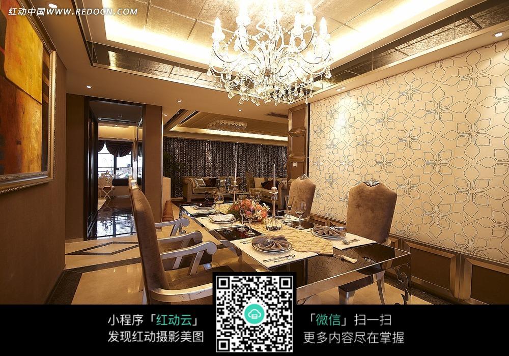 欧式华丽餐厅效果图_室内设计图片