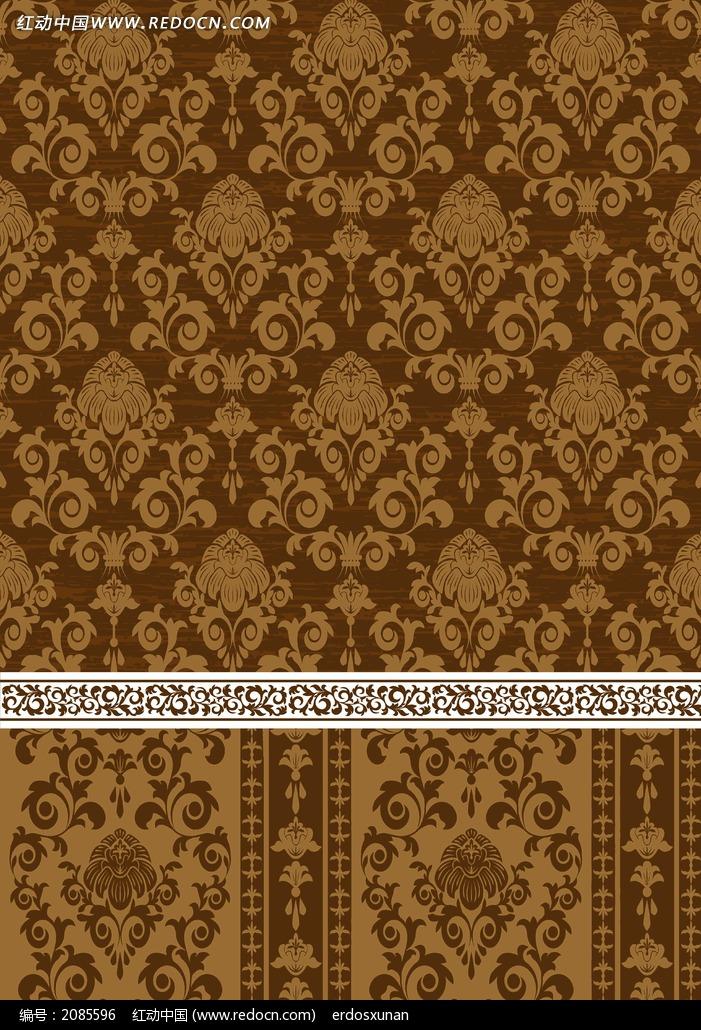 棕色欧式布纹贴图