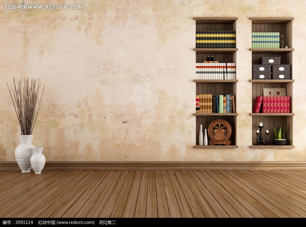 墙壁隔板书架_室内设计图片