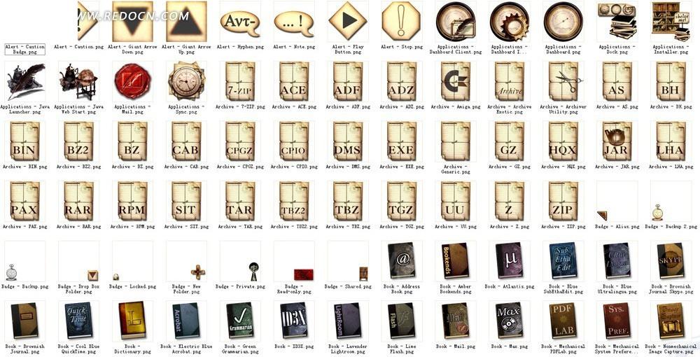 书籍纸张类欧式图标图片