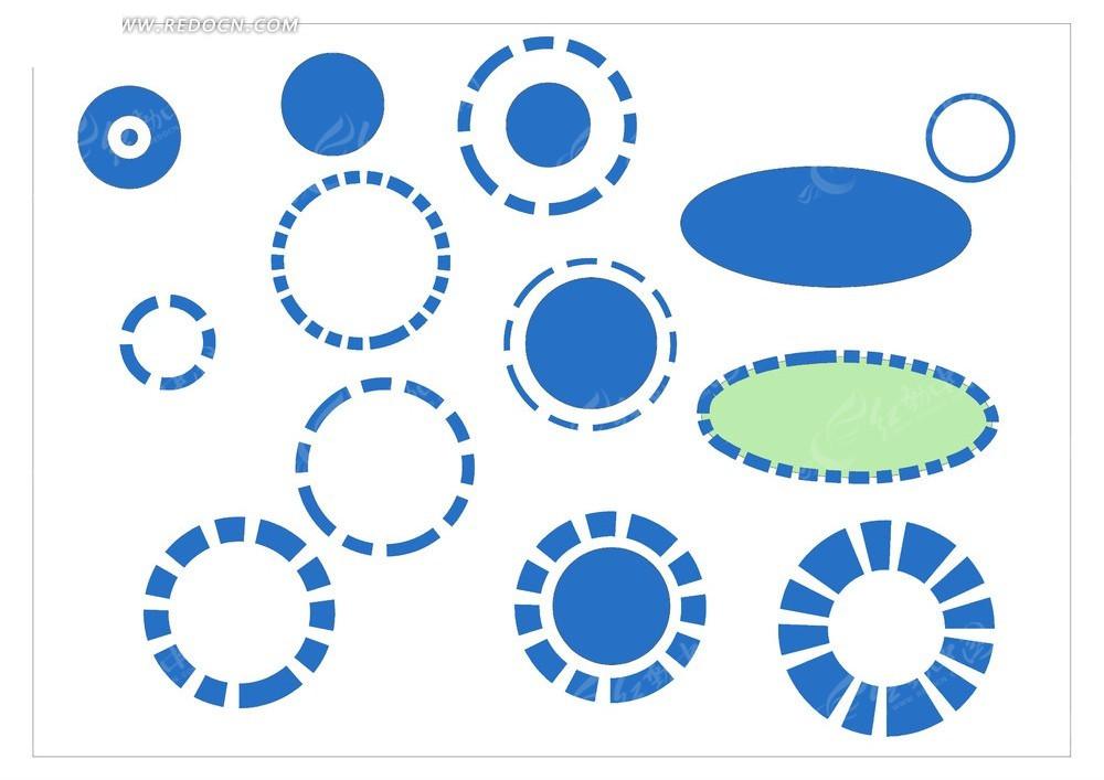 分析图——蓝色圆圈