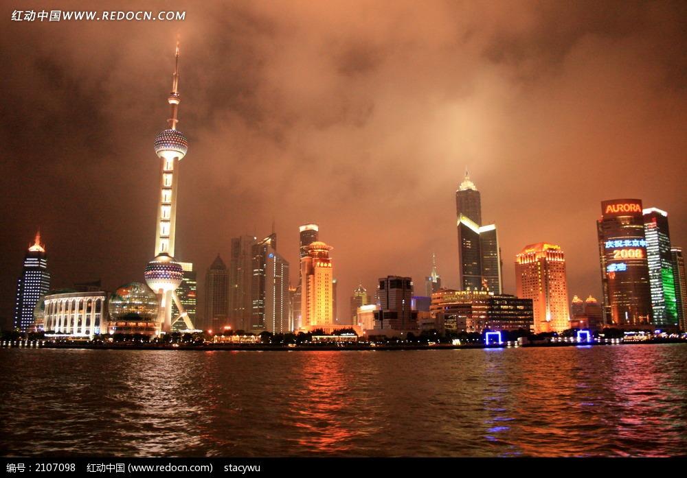 上海黄浦江夜景图片