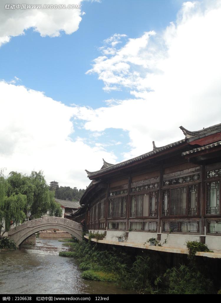 小桥流水人家 小桥流水 古建筑 城市风光 城市图片 摄影图片