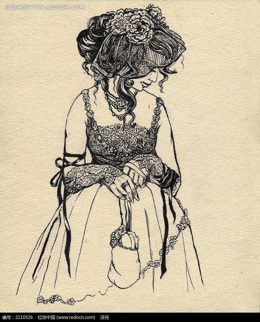 欧洲贵族妇女肖像画图片