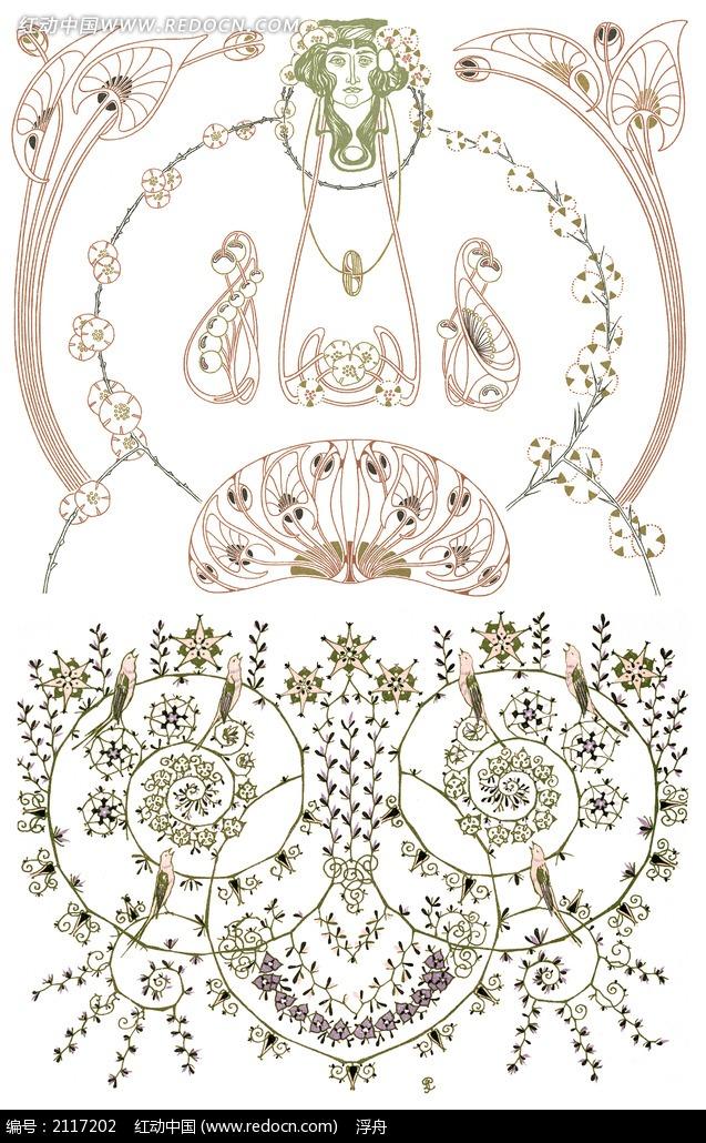 佛教手绘莲花素材