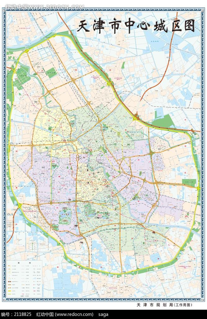 天津市中心城区地图图片