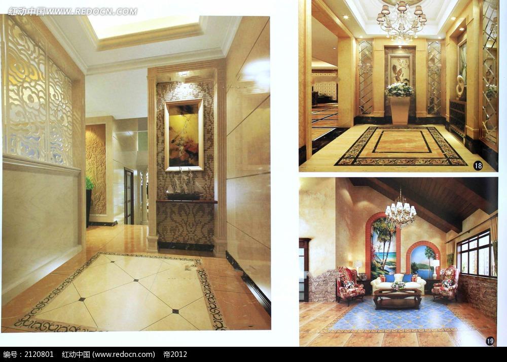 欧式门厅客厅装修效果图max图片