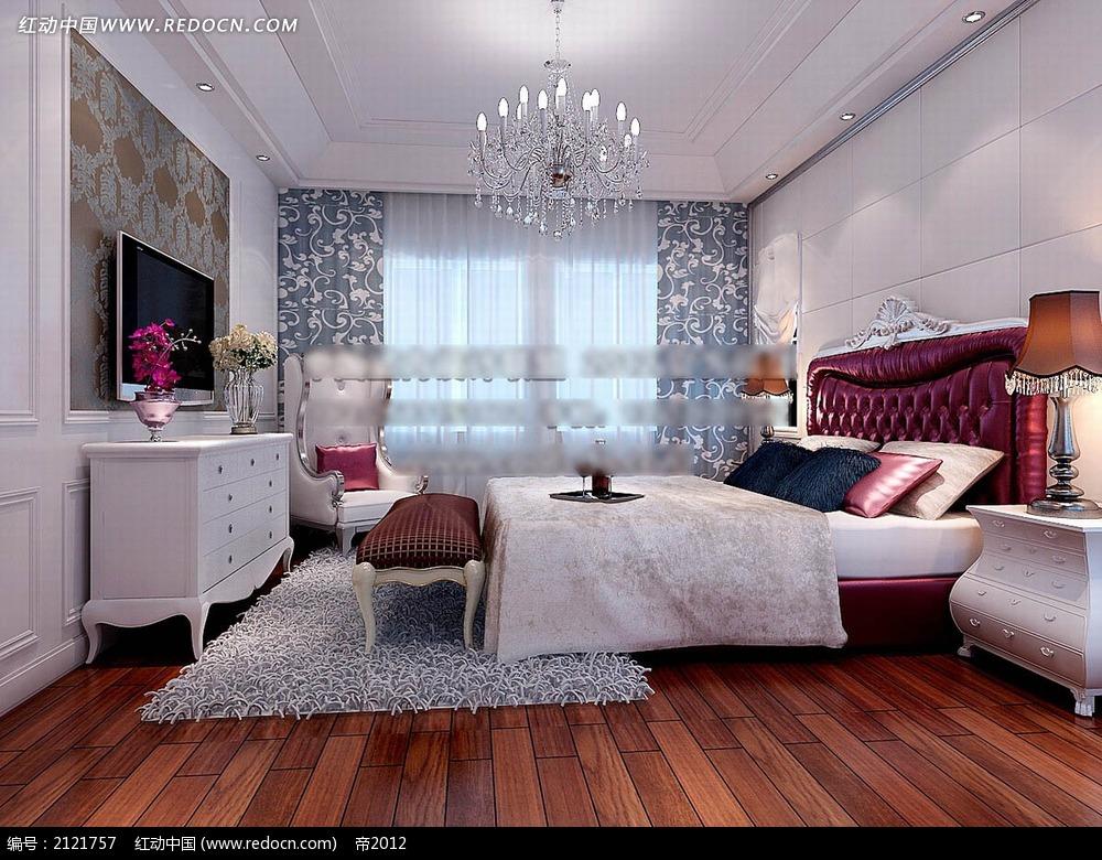 欧式家装卧室设计效果图max