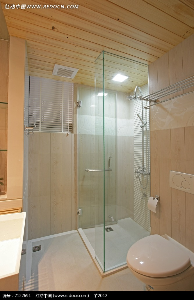 卫生间玻璃装饰效果图图片