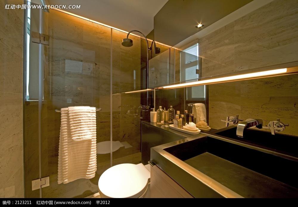 酒店卫生间3d模型_室内设计_红动手机版