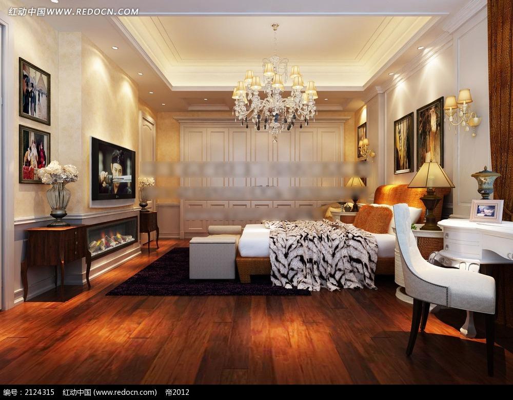 木地板卧室效果图max高清图片