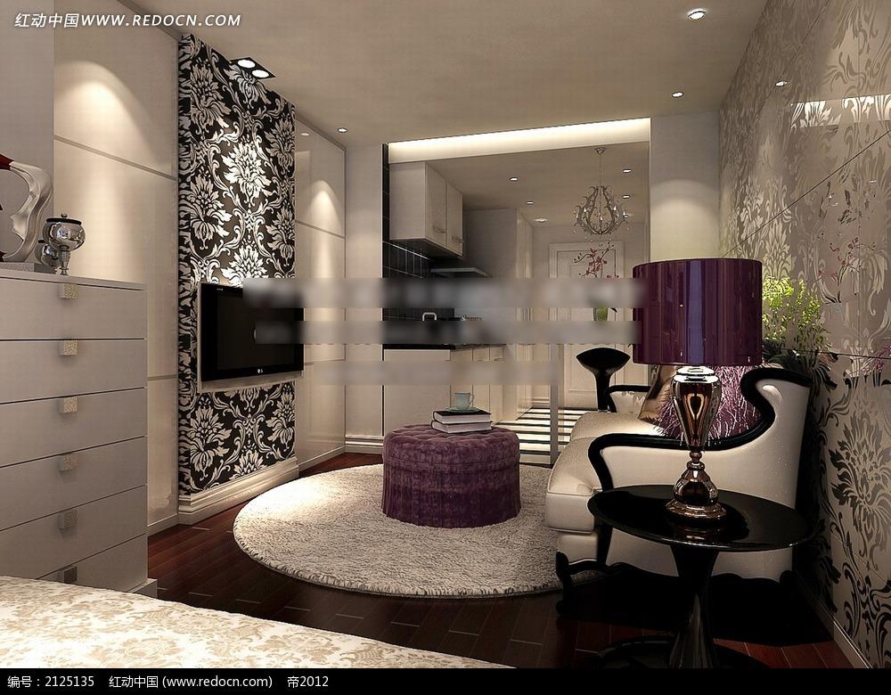 现代欧式小户型家装效果图max图片