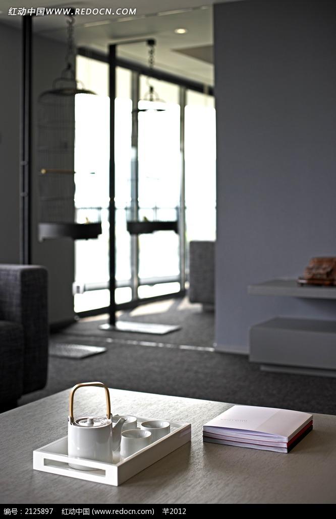 茶几古典茶壶装饰效果图 室内设计图片 红动手机版