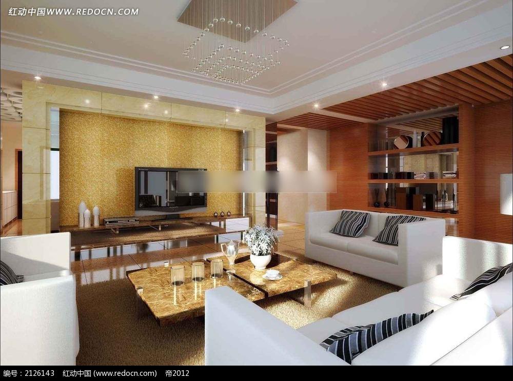 家装客厅效果图max_室内设计