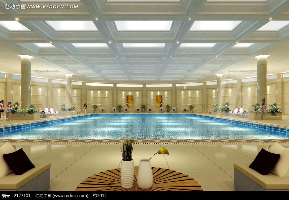 免费素材 3d素材 3d模型 室内设计 室内游泳馆效果图max