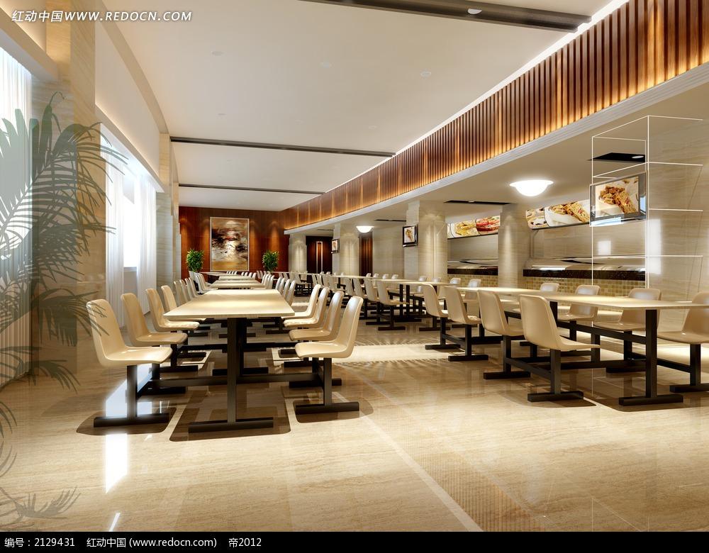 快餐厅装修效果图max