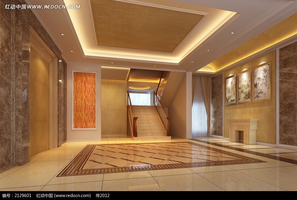 楼梯大厅装修效果图max