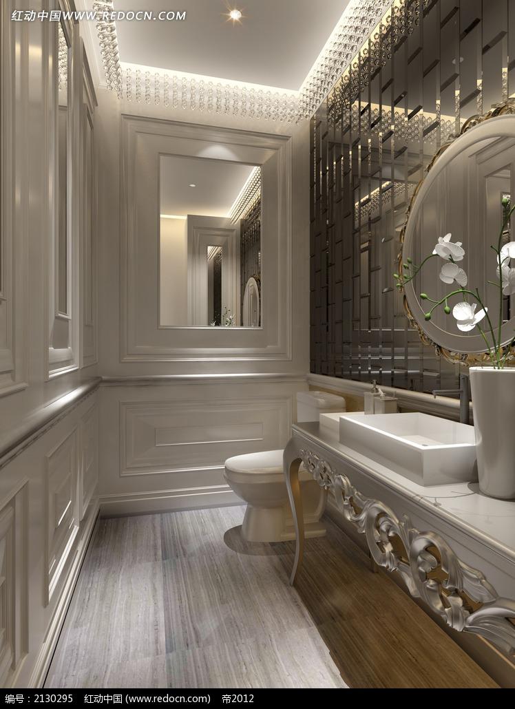 免费素材 3d素材 3d模型 室内设计 欧式卫生间效果图max  请您分享图片