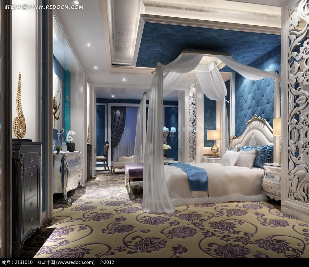 浪漫唯美欧式卧室装修效果图max3dmax素材免费下载 编号2131010 红动网