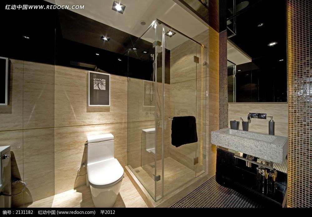 浴室马桶洗手台设计图图片