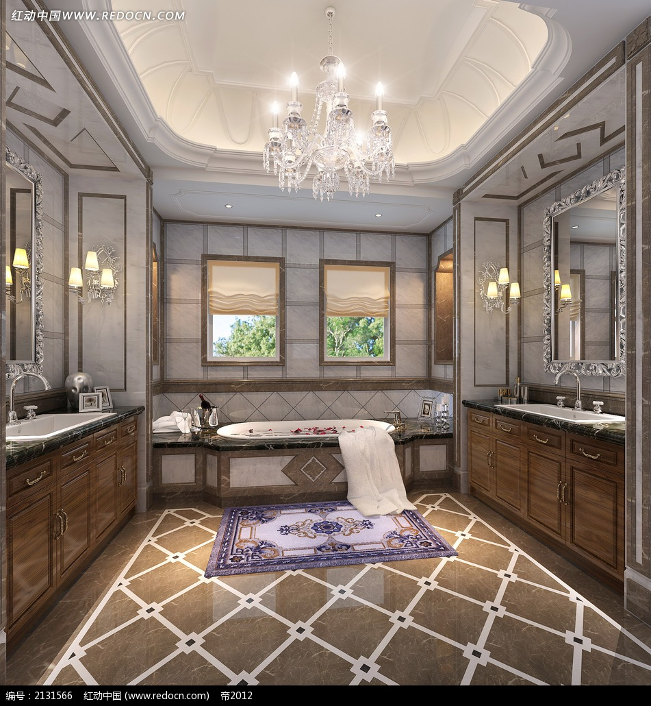 欧式风格浴室装修效果图max图片