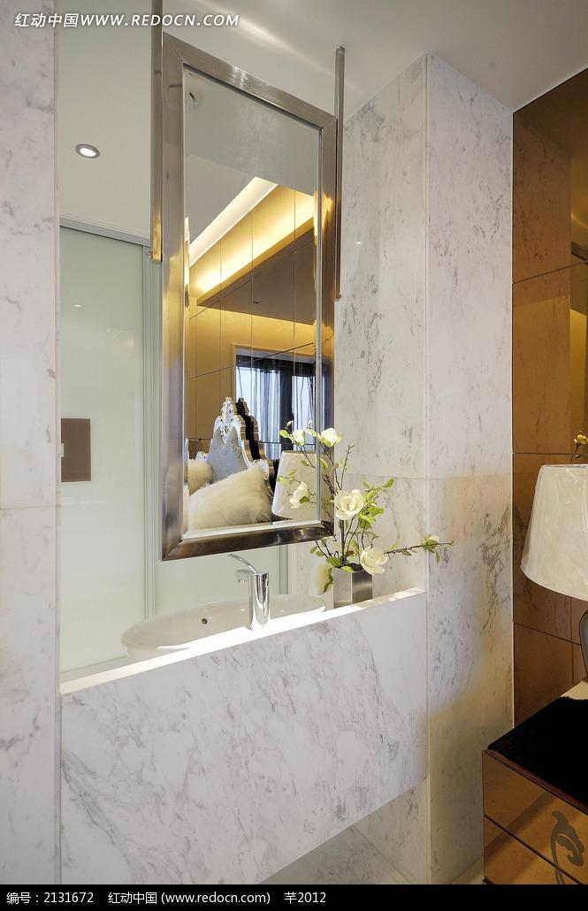 卧室洗手台挂镜设计图