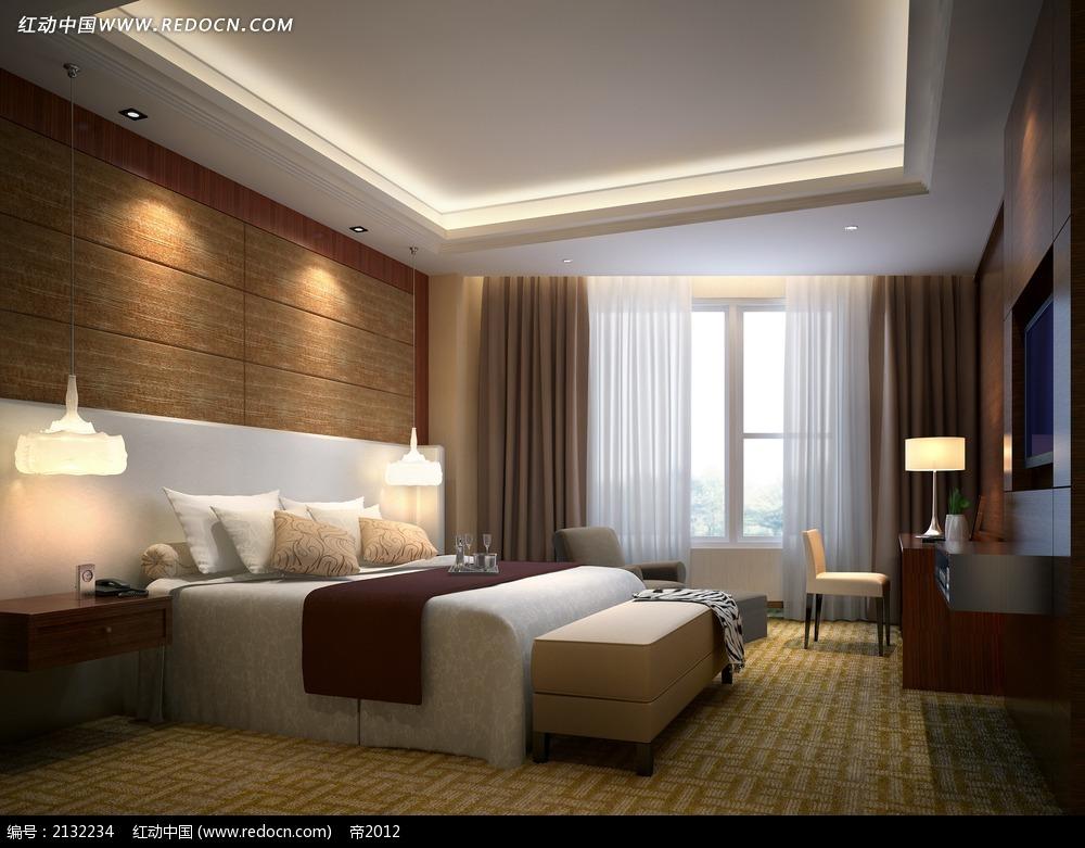 简约时尚卧室设计效果图max