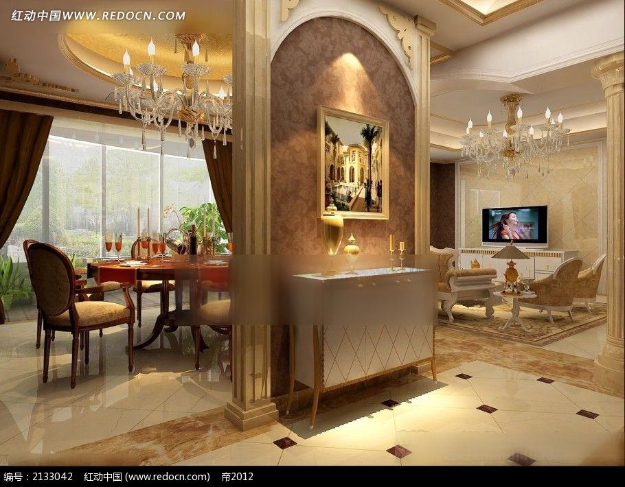 max 室内设计 室内设计平面图   照片级 装修效果图 欧式家装设计 3d