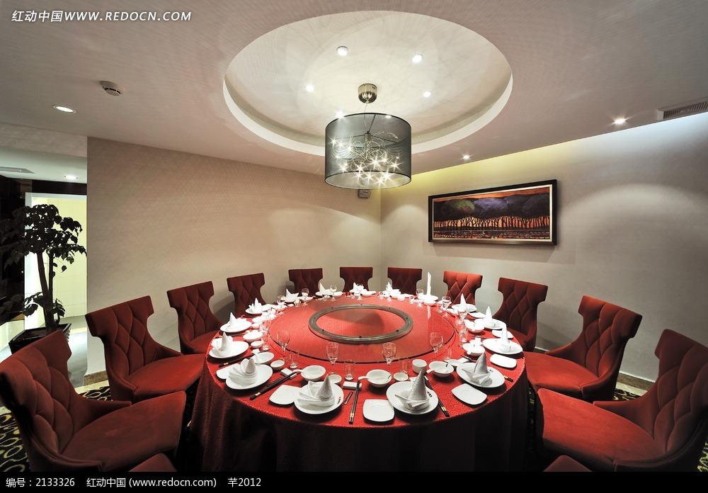 中国风餐厅包房装饰效果图图片