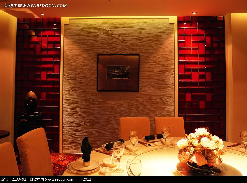 中国风餐厅包间装饰效果图