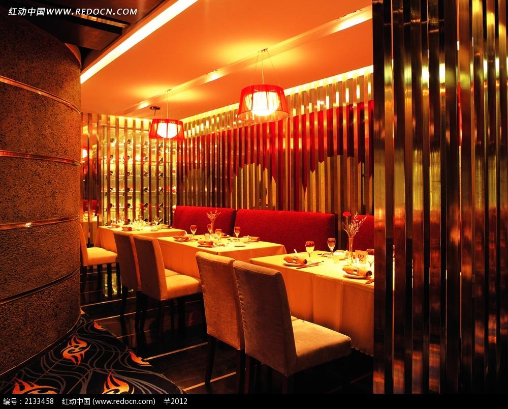 餐厅中国风装饰效果图