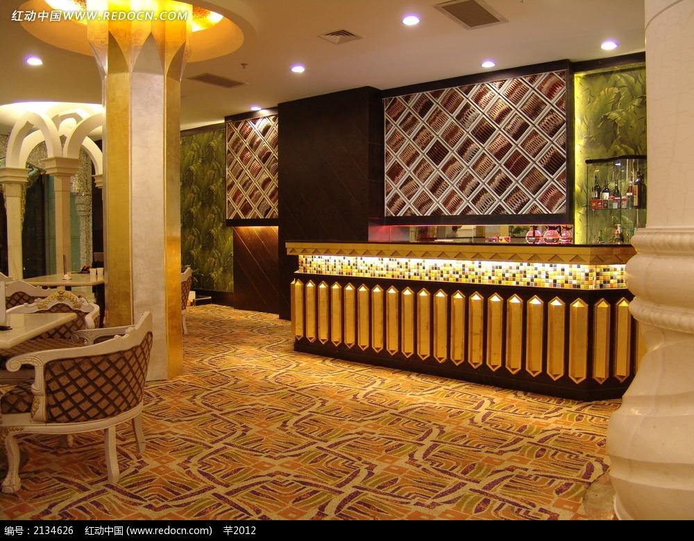 奢华酒店吧台装饰效果图图片